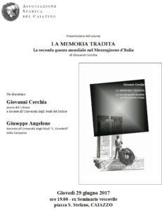 Memoria tradita 234x300 Giovanni Cerchia presenta La memoria tradita