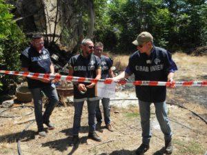 forestale 2 300x225 Incendia rifiuti pericolosi in un podere, arrestato agricoltore