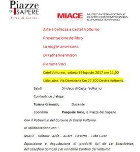 lib 276x300 ARTE E BELLEZZA A CASTEL VOLTURNO   PRESENTAZIONE DEL LIBRO LA MOGLIE AMERICANA