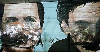 murales SFREGIATI I MURALES DI TROISI, NOSCHESE E TOTO