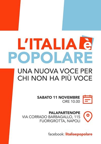 Italia e popolare Napoli 11 novembre 2017 INVITO L'ITALIA E' POPOLARE, INIZIATIVA POLITICA DI DE MITA