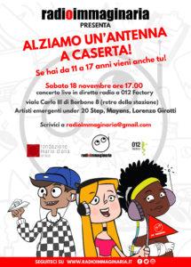 Locandina Antenna Caserta 01 215x300 GLI SPEAKER DI RADIOIMMAGINARIA DOMANI A CASERTA