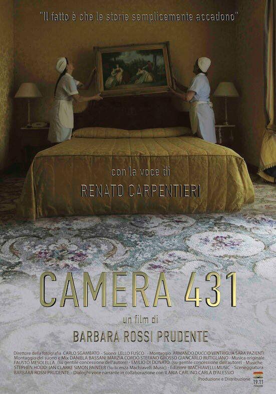 locandina Camera 431 CAMERA 431, IL NUOVO FILM DI BARBARA ROSSI PRUDENTE AL DUEL VILLAGE