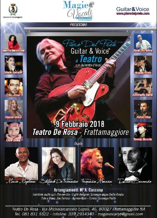 2 4 EVENTO GUITAR & VOICE:IL JAZZISTA PIERO DEL PRETE APPRODA IN TEATRO CON MAGIE VOCALI
