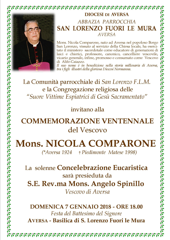 Anniversario Comparone 3 1 AVERSA: COMMEMORAZIONE VENTENNALE MONS.COMPARONE IL 7 GENNAIO