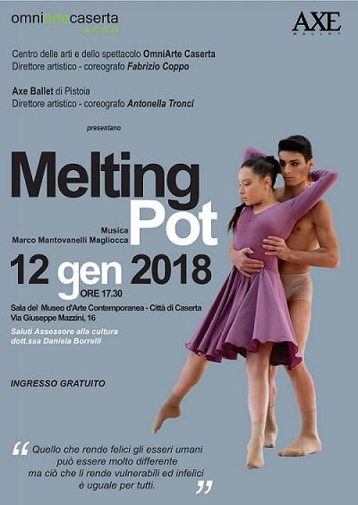 """FotoMeltingPot """"MELTING POT"""" DEL MAESTRO DI BALLO CASERTANO FABRIZIO COPPO AL MUSEO D'ARTE CONTEMPORANEA DI VIA MAZZINI"""