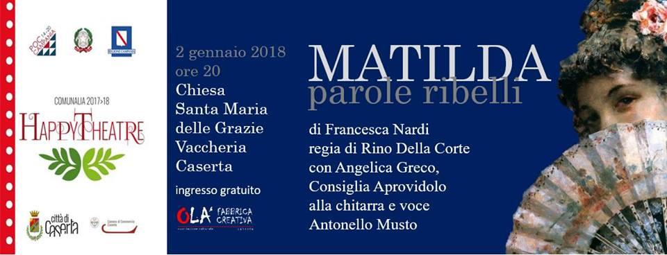 matilda PAROLE RIBELLI: STASERA INTERVISTA IMPOSSIBILE A MATILDA
