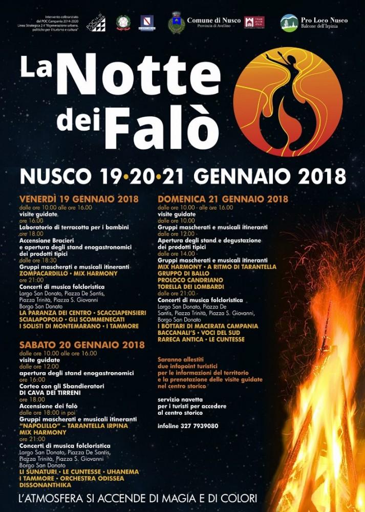 notte dei falo 2018 programma LA NOTTE DEI FALO' DI NUSCO EDIZIONE 2018