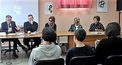 4 1 CAMORRA, SECONDO INCONTRO AL LICEO PASOLINI DI POTENZA: FOLTA PLATEA DI STUDENTI PER ASCOLTARE LEONARDI