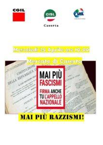 fascismi.jpeg 213x300 MAI PIU FASCISMI, GAZEBO INFORMATIVI IL 25 APRILE