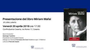 invito mafei 1 300x169 PRESENTAZIONE DI MIRIAM MAFAI A CONFINDUSTRIA CASERTA