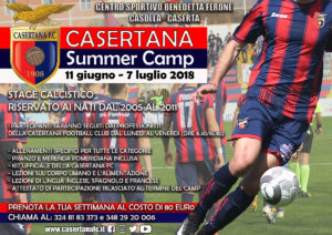 summer camp locandina 300x212 NASCE IL CASERTANA SUMMER CAMP