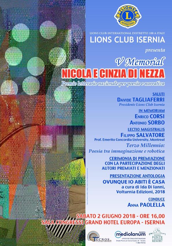 IMG 20180524 WA0002 IL LIONS CLUB DI ISERNIA PRESENTA IL V MEMORIAL NICOLA E CINZIA DI NEZZA