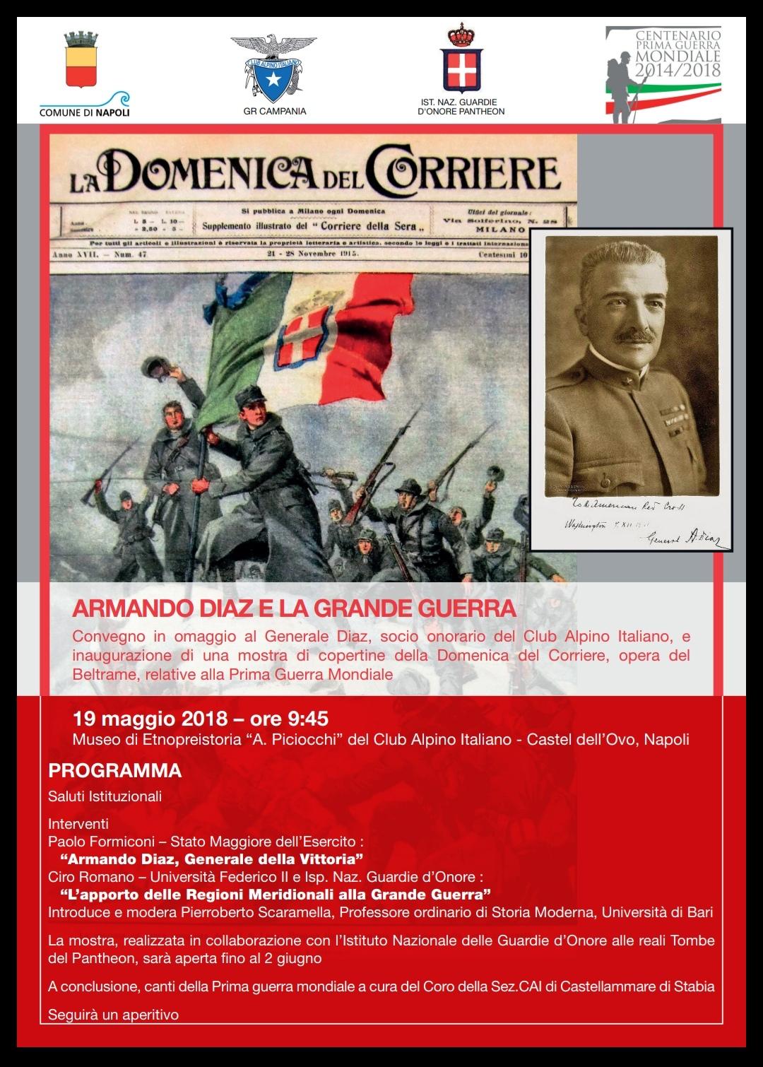 IMG 20180510 121431 CONVEGNO A NAPOLI SU ARMANDO DIAZ E LA GRANDE GUERRA AL CASTEL DELLOVO