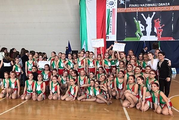 danza BALLERINE MADDALONESI TRIONFANO AI CAMPIONATI NAZIONALI MSP
