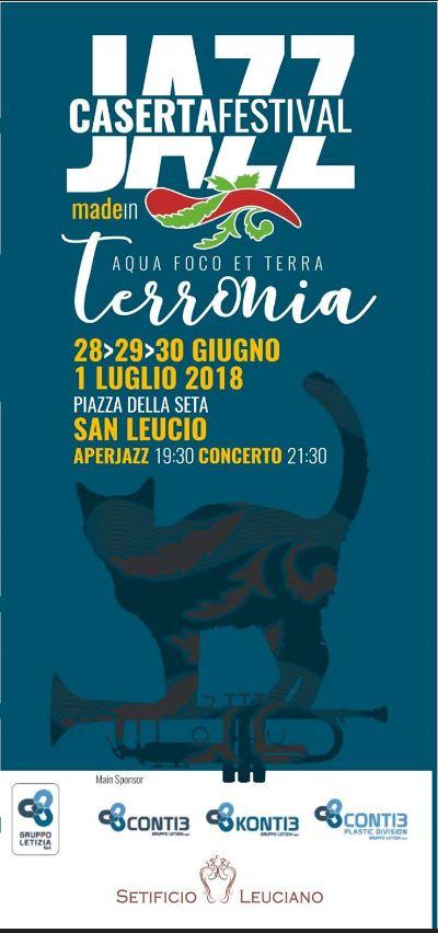 Manifesto 2 CASERTA FESTIVAL JAZZ: 4 SERATE DI MUSICA, 8 CONCERTI E …MOLTO ALTRO ANCORA