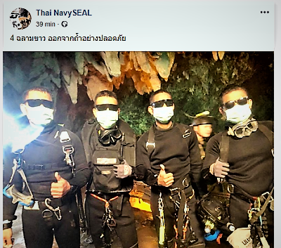 FB THAILANDIA, GROTTA DI THAM LUANG: SONO TUTTI SALVI!