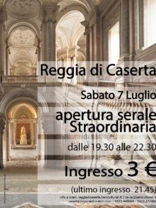 apertura serale 225x300 GLI EVENTI DEL WEEKEND CON LA REGGIA PROTAGONISTA