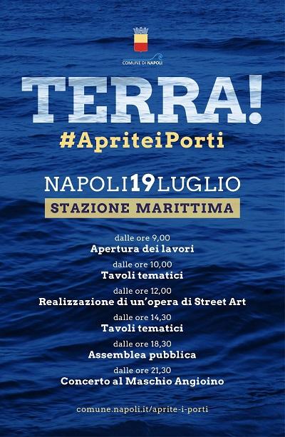 %name DE MAGISTRIS DOMANI A NAPOLI A TERRA! #APRITEIPORTI