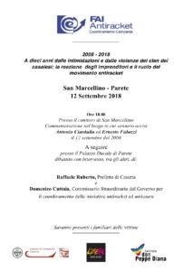FAI Parete 12 settembre 2018 212x300 SAN MARCELLINO RICORDA CIARDULLO E FABOZZI, VITTIME DELLUSURA