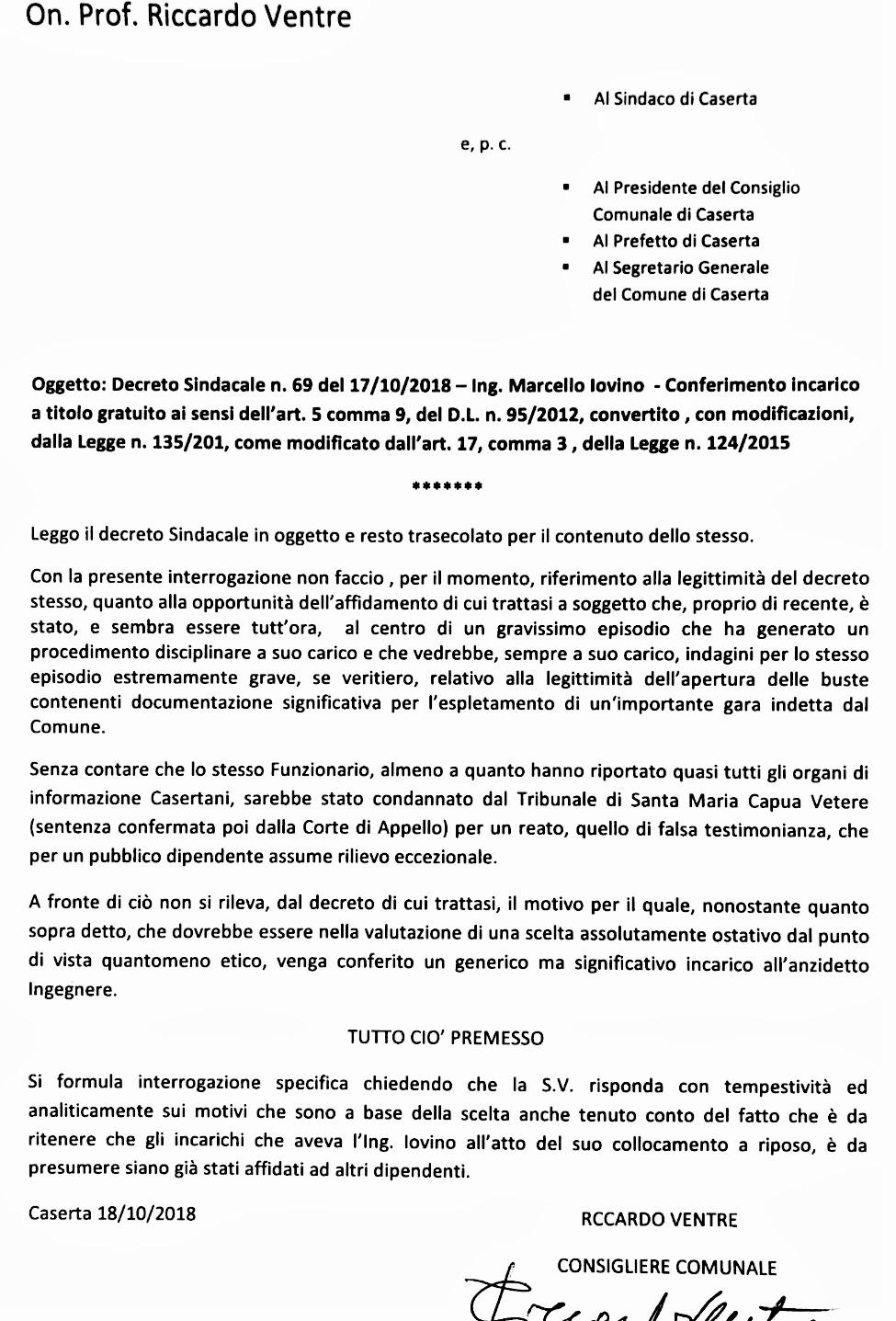 IMG 20181018 WA0006 INCARICHI & INTERROGAZIONI…L'ILLUSIONE DEL GRATUITO