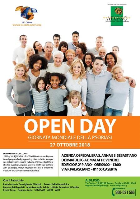 Open Day Psoriasi GIORNATA MONDIALE DELLA PSORIASI, OPEN DAY ALLOSPEDALE DI CASERTA