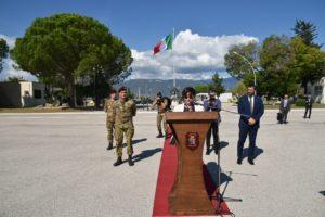 discorso del Ministro 300x200 PERSANO, MINISTRO DELLA DIFESA TRENTA VISITA I REPARTI GARIBALDI