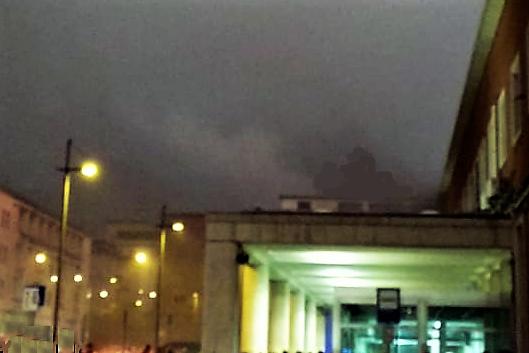 incendio stazione caserta FIAMME NELLA STAZIONE DI CASERTA