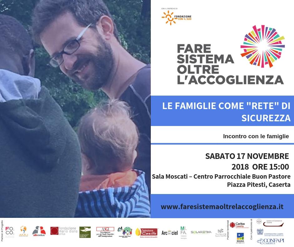 2018 11 FSOA Seminario famiglie CE invito ACCOGLIENZA, FONDAZIONE SUD: PER INCLUDERE È NECESSARIO FARE SISTEMA