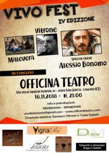 Locandina 212x300 ALESSIO BONOMO AL PRIMO APPUNTAMENTO DI VIVO FEST