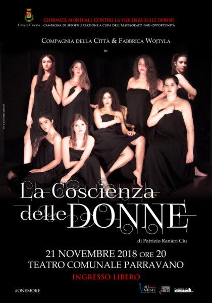 """Locandina La Coscienza delle Donne """"LA COSCIENZA DELLE DONNE"""" AL TEATRO COMUNALE C. PARRAVANO"""