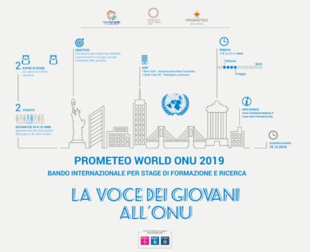 PROGETTO PROMETEO WORLD ONU 2019 e1543407368462 PROMETEO WORLD ONU 2019, BANDO INTERNAZIONALE 2 DUE BORSE DI FORMAZIONE E RICERCA: