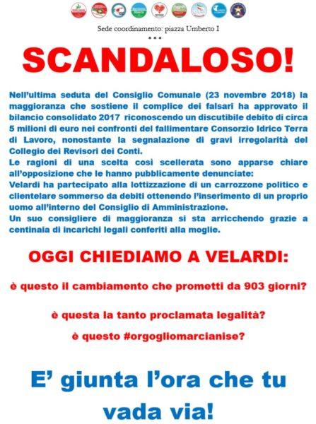 manifesto abbate CONSIGLIO COMUNALE: LA DENUNCIA DEL GRUPPO DOPPOSIZIONE