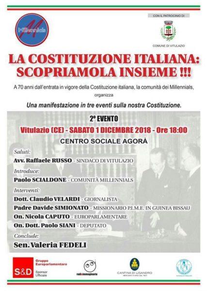millenials costituzione I PARLAMENTARI, CAPUTO, FEDELI E SIANI A VITULAZIO ALLA SCOPERTA DELLA COSTITUZIONE ITALIANA