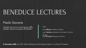 Invito Beneduce Lectures 300x169 PAOLO SAVONA OSPITE DA CONFINDUSTRIA CASERTA