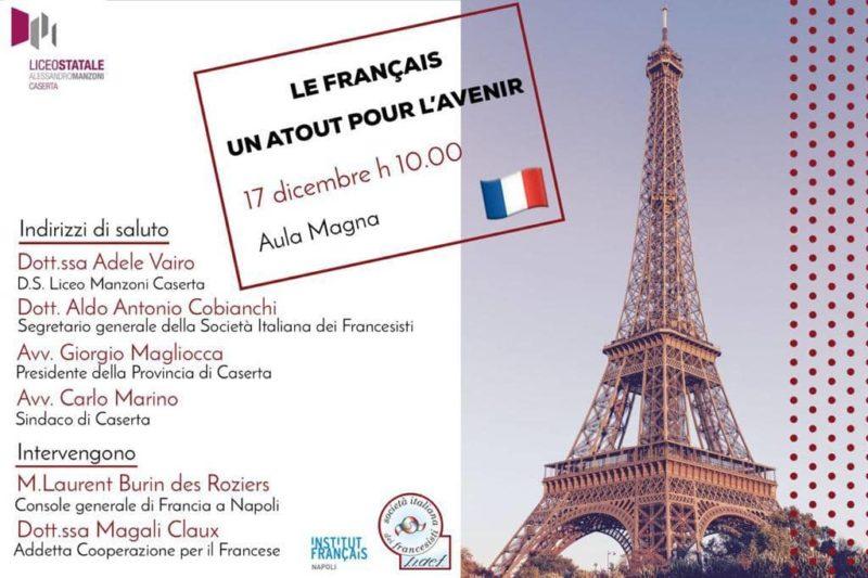 "Locandina 1 ""LE FRANÇAIS: UN ATOUT POUR L'AVENIR"": IL CONSOLE DI FRANCIA M. BURIN DES ROZIERS AL MANZONI"
