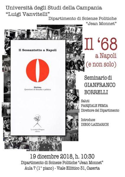 Locandina Iniziativa del 19 12 2018 1 DOMANI SEMINARIO SUL 68 A NAPOLI