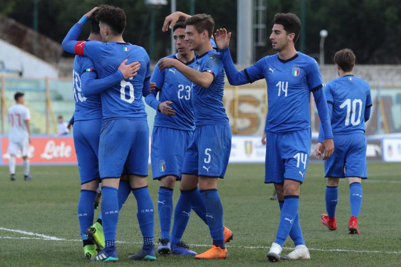 687A8960 GLI AZZURRINI INCANTANO IL PINTO, ITALIA   SPAGNA U19 3 0 LA FOTOGALLERY DELLA GARA