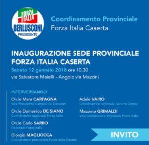 Invito inaugurazione sede Forza Italia Caserta 300x293 INAUGURAZIONE NUOVA SEDE FORZA ITALIA IN VIA MAIELLI