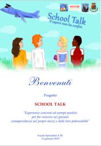 Progetto School Talk locandina di presentazione 209x300 SCHOOL TALK, PRESENTAZIONE PROGETTO ALLAERONAUTICA MILITARE