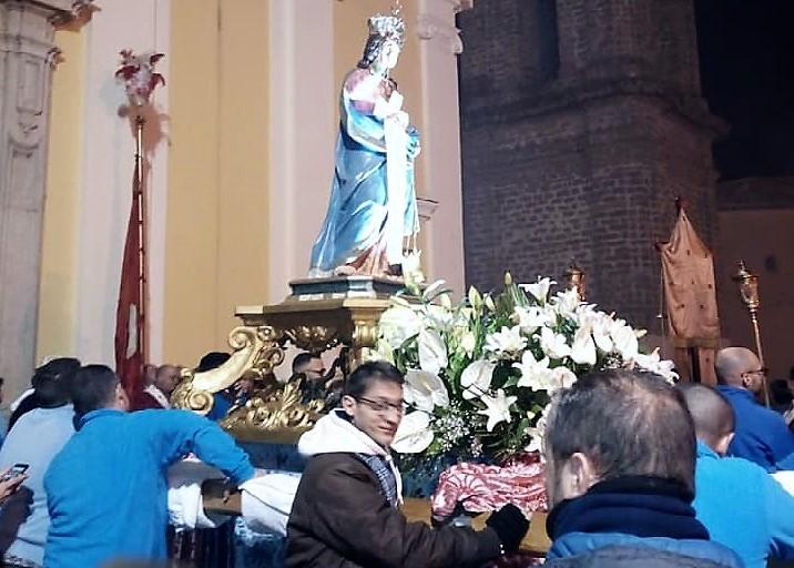 processione santa matrona SANTA MATRONA IN PROCESSIONE: POCHI FEDELI