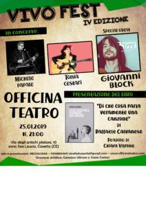 vivo locandina spazio bianco 212x300 LA MUSICA DAUTORE E VIVO FEST CON BLOCK A CASERTA