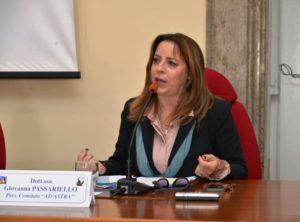 Dott.ssa Giovanna Passariello Presidente Comitato Ad Astra 300x222 PRESENTATO SCHOOL TALK, LE ESPERIENZE DI VITA DI PROFESSIONISTI E CAMPIONI A SCUOLA