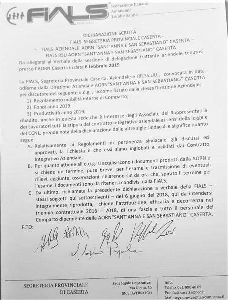 FIALS OSPEDALE, DICHIARAZIONE FIALS SULLA RIUNIONE MANAGER SINDACATI