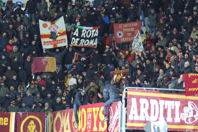 FROSINONE VS ROMA5119 CALCIO SERIE A: LA ROMA VINCE A FROSINONE GRAZIE A DZEKO, LA FOTOGALLERY