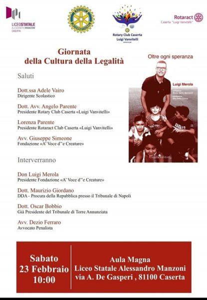 IMG 20190214 WA0003 LICEO MANZONI E ROTARY CASERTA LUIGI VANVITELLI: LEZIONE DI LEGALITÀ