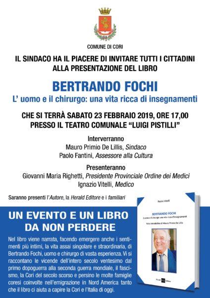 Locandina bertrando 001 BERTRANDO FOCHI, L'UOMO E IL CHIRURGO: UNA VITA RICCA DI INSEGNAMENTI