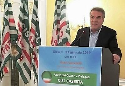 Sbarra GIGI SBARRA,SEGRETARIO CONFEDERALE CISL NAZIONALE A CASERTA