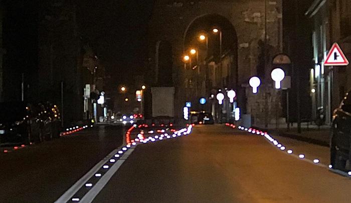 Segnaletica orizzontale Arco Adriano SICUREZZA STRADALE, ULTIMATA LA SEGNALETICA ORIZZONTALE NEI PRESSI DELL'ARCO DI ADRIANO