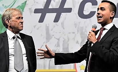 Sergio Bramini e Luigi Di Maio LEGGE BRAMINI CHE TUTELA IN CASO DI PIGNORAMENTO: L'IMPRENDITORE A CASERTA PARLA DELLA RIVOLUZIONE PER I DEBITORI